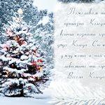 Пожелавам ти приказна Коледа с всички познати герои - дядо Коледа, Снежанка, джуджета и най-вече любимите ти хора! Весела Коледа!