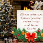 Твоят подарък за Коледа е усмивка - отвори го още сега! Весела Коледа!